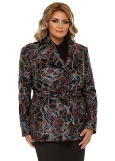 Jachetă Plus Size Eliana Multicoloră