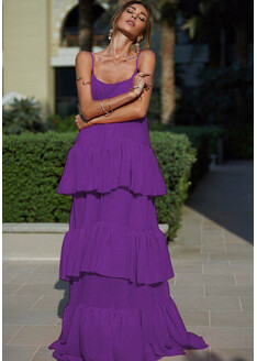 Rochie din Voal Lara Mov Ultraviolet