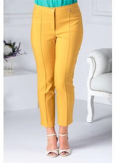 Pantalon Dalida galben mustar cu dunga office