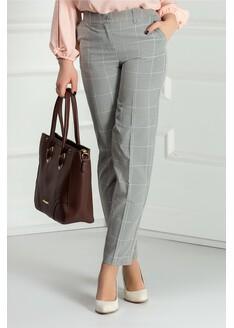 Pantalon Xara pana stofa carouri gri