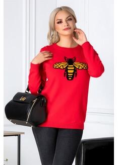 Bluza Bee rosie cu albinuta