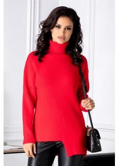 Bluza Accola rosie asimetrica
